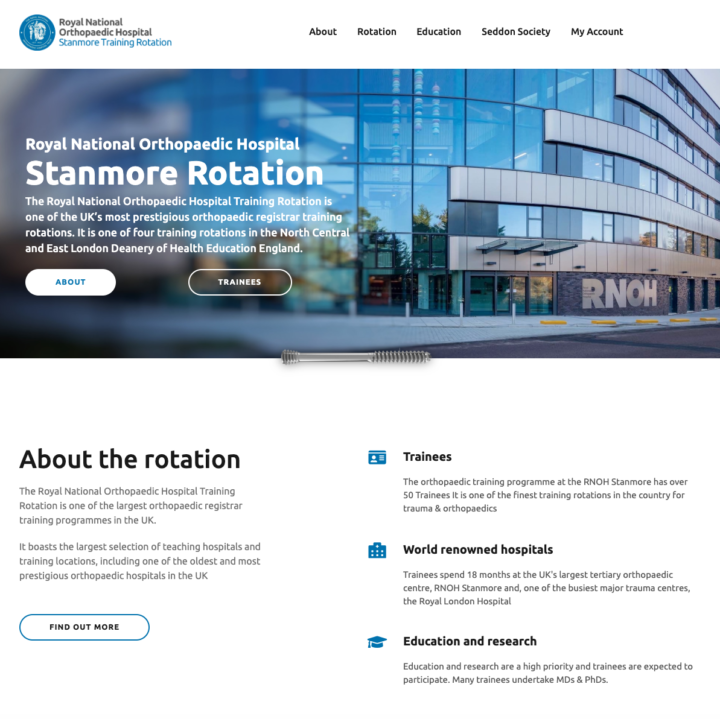 Stanmore Rotation website re-design launched